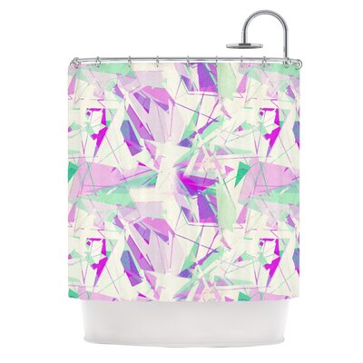 Shatter Shower Curtain Color: Purple
