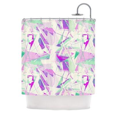 Shatter Shower Curtain Color: Purple