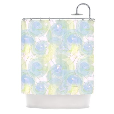 Paper Flower Shower Curtain