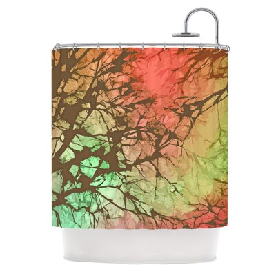 Skies Shower Curtain Color: Fire