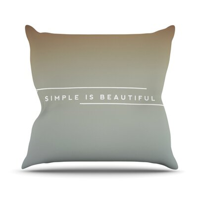 Simple Beautiful Throw Pillow Size: 18 H x 18 W