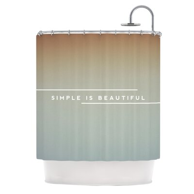 Simple Beautiful Shower Curtain