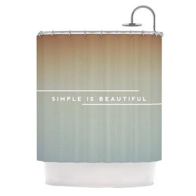 Simple Beautiful Shower Curtain