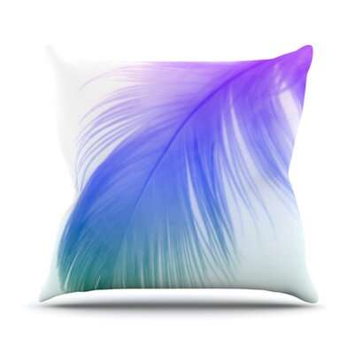 Feather Colour Throw Pillow Size: 18 H x 18 W