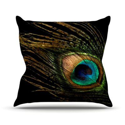 Peacock Throw Pillow Size: 18 H x 18 W