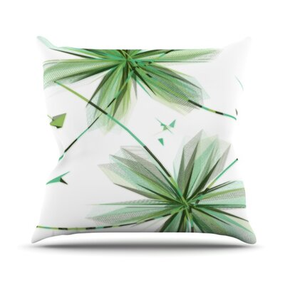 Flower Throw Pillow Size: 26 H x 26 W, Color: Teal