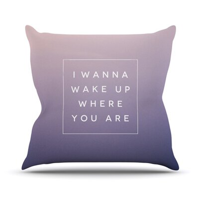 Wake Up Throw Pillow Size: 20 H x 20 W