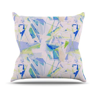 Shatter Throw Pillow Size: 16 H x 16 W, Color: Blue