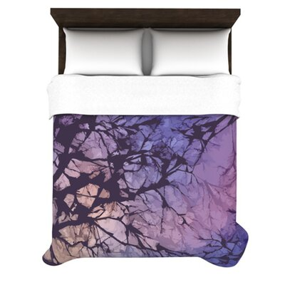 Skies Woven Comforter Duvet Cover Size: Twin, Color: Violet