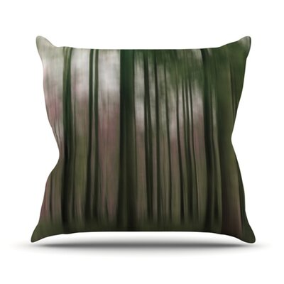 Forest Blur Throw Pillow Size: 18 H x 18 W