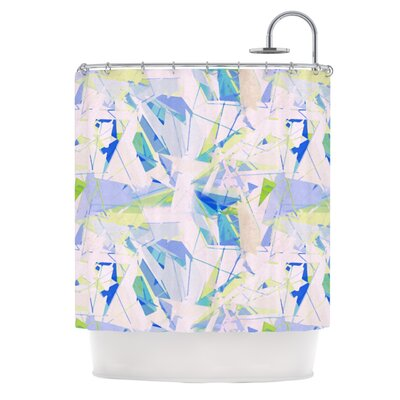 Shatter Shower Curtain Color: Blue