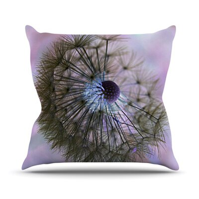 Dandelion Clock Throw Pillow Size: 18 H x 18 W