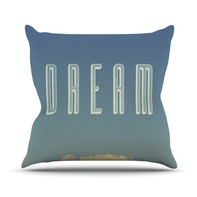 Dream Print Throw Pillow Size: 18 H x 18 W