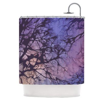 Skies Shower Curtain Color: Violet