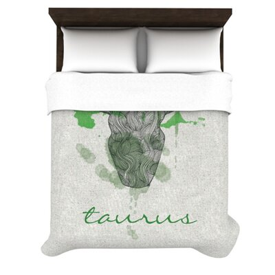 Taurus by Belinda Gillies Woven Duvet Cover Size: Queen