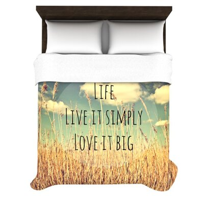 Life by Alison Coxon Featherweight Duvet Cover Size: Twin, Fabric: Lightweight Polyester