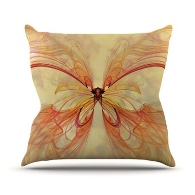 Papillion Throw Pillow Size: 18 H x 18 W