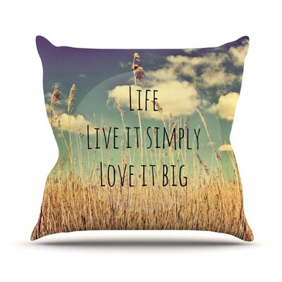 Life Throw Pillow Size: 26 H x 26 W