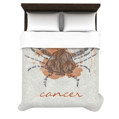 Cancer by Belinda Gillies Woven Duvet Cover Size: Queen