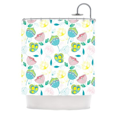 Indie Floral Shower Curtain