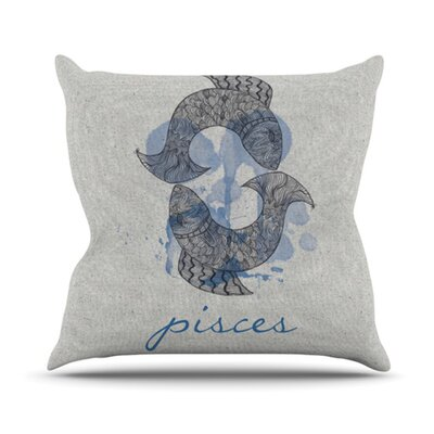 Belinda Gillies Throw Pillow Zodiac: Pisces