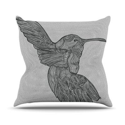 Hummingbird Throw Pillow Size: 18 H x 18 W