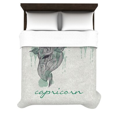 Capricorn by Belinda Gillies Woven Duvet Cover Size: Queen