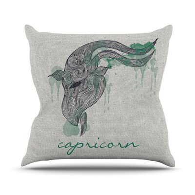 Belinda Gillies Throw Pillow Zodiac: Capricon