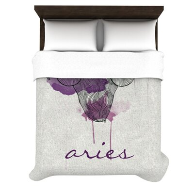 Aries Woven Duvet Cover Size: Queen