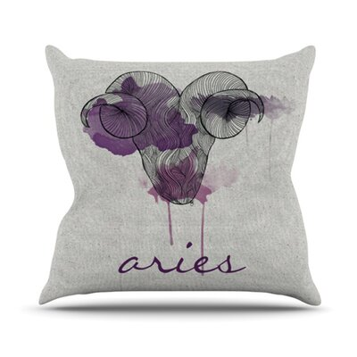 Belinda Gillies Throw Pillow Zodiac: Aries