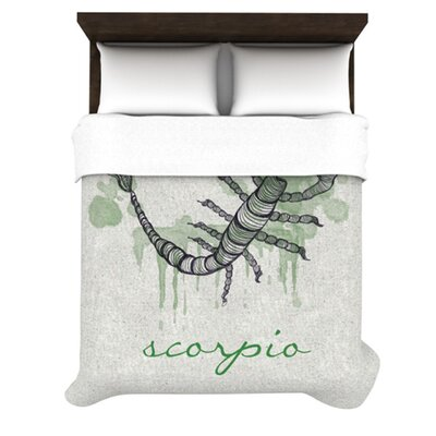 Scorpio by Belinda Gillies Woven Duvet Cover Size: Twin
