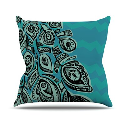 Peacock Blue II Throw Pillow Size: 16 H x 16 W x 1 D