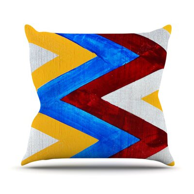 Zig Zag Throw Pillow Size: 18 H x 18 W