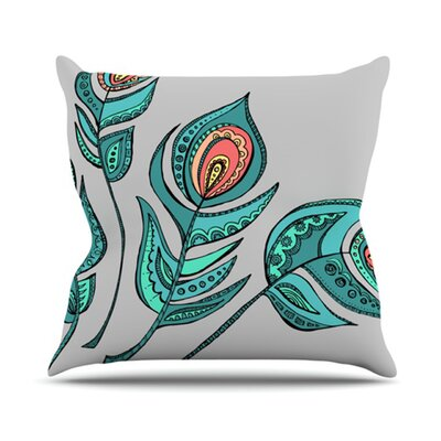 Feathers by Brienne Jepkema Throw Pillow Size: 16 H x 16 W x 1 D