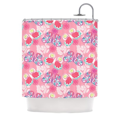 Baroque Butterflies Shower Curtain