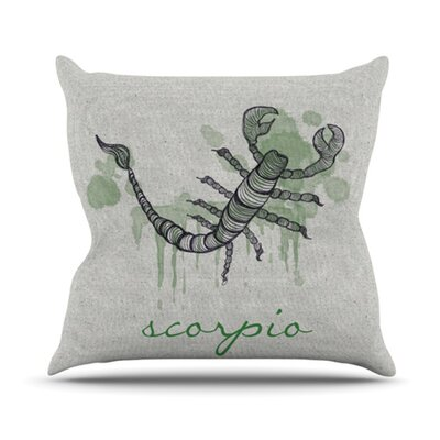 Belinda Gillies Throw Pillow Zodiac: Scorpio