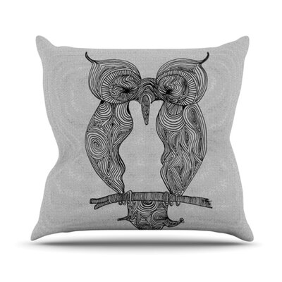 Owl Throw Pillow Size: 26 H x 26 W
