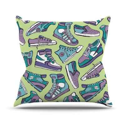 Sneaker Lover IV Throw Pillow Size: 18 H x 18 W