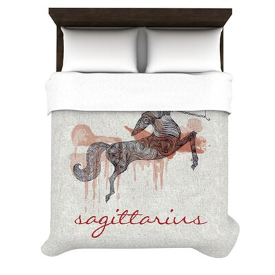 Sagittarius by Belinda Gillies Woven Duvet Cover Size: Queen