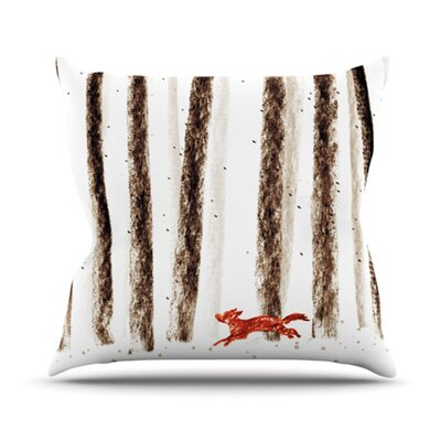Run and Roam Throw Pillow Size: 16 H x 16 W