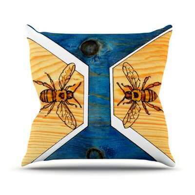 Bees Throw Pillow Size: 18 H x 18 W
