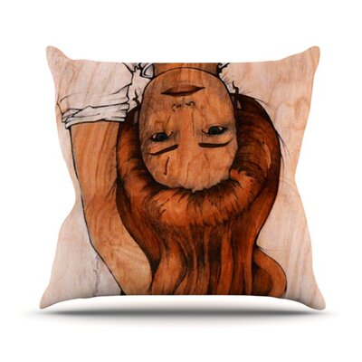 Girl Throw Pillow Size: 16 H x 16 W