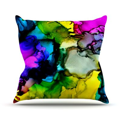 A Little Out There Throw Pillow Size: 16 H x 16 W
