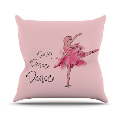 Ballerina Throw Pillow Size: 16 H x 16 W