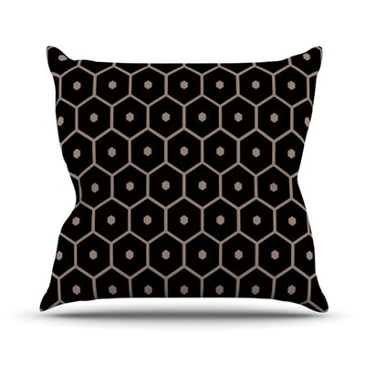 Tiled Mono Throw Pillow Size: 16 H x 16 W