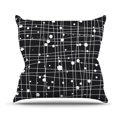 Woven Web Mono Cotton Throw Pillow