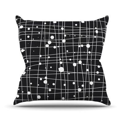 Woven Web Mono Cotton Throw Pillow