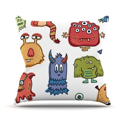 Little Monsters Throw Pillow Size: 18 H x 18 W