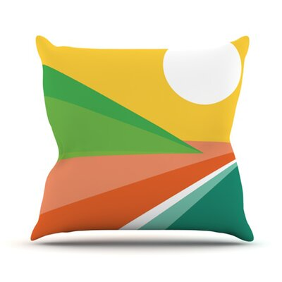 Beach Throw Pillow Size: 18 H x 18 W