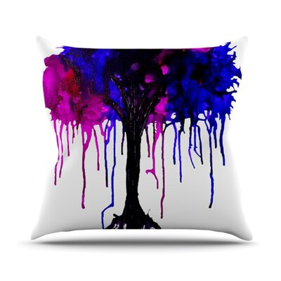 Weeping Willow Throw Pillow Size: 18 H x 18 W